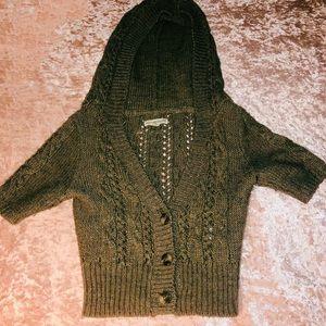 Short Sleeved Knit Cardigan